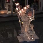 キャンドル&氷アート