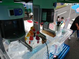 かき氷販売テーブル